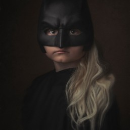 Fine Art Portrait_ batman_child_girl